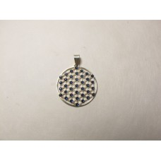 Flower of life hanger navy 25 mm