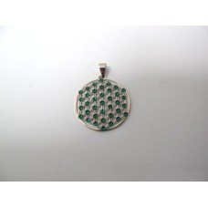 Flower of life hanger groen 25 mm
