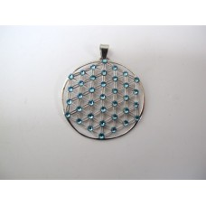 Flower of life hanger, ijsblauw
