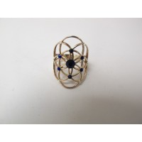 Seed of life ring navyblauw maat 54