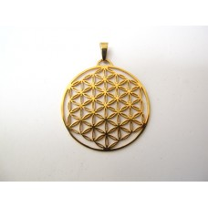 Flower of life hanger, verguld