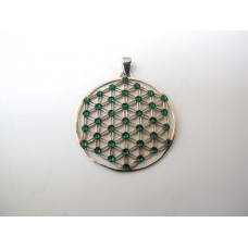 Flower of life hanger groen
