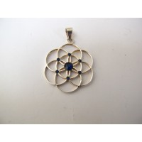 Seed of life hanger donkerblauw