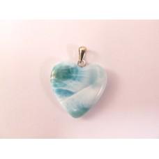 Larimar hanger hart 2,5 cm.